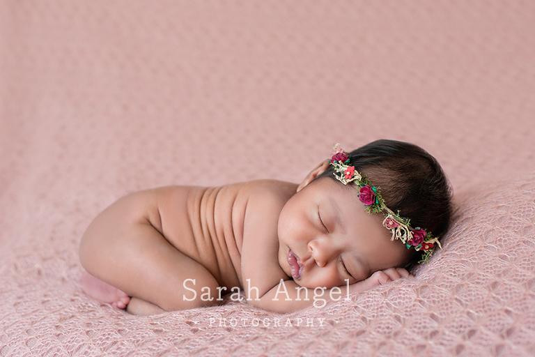 Mia's Headband at her Newborn photo shoot in Farnham, Surrey