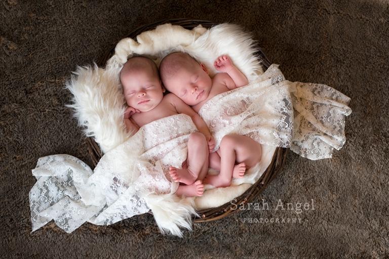Newborn Twins Photographer Farnham Sarah Angel Photography