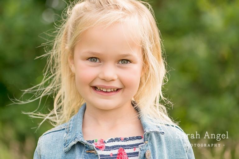 Portrait of the daughter at mini session in Farnham, Surrey