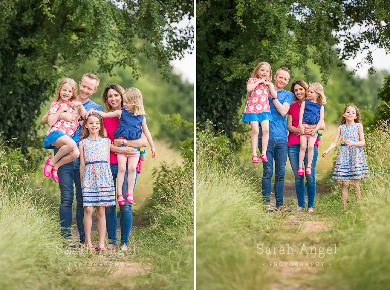 A family photoshoot in farmham must involve lots of fun.
