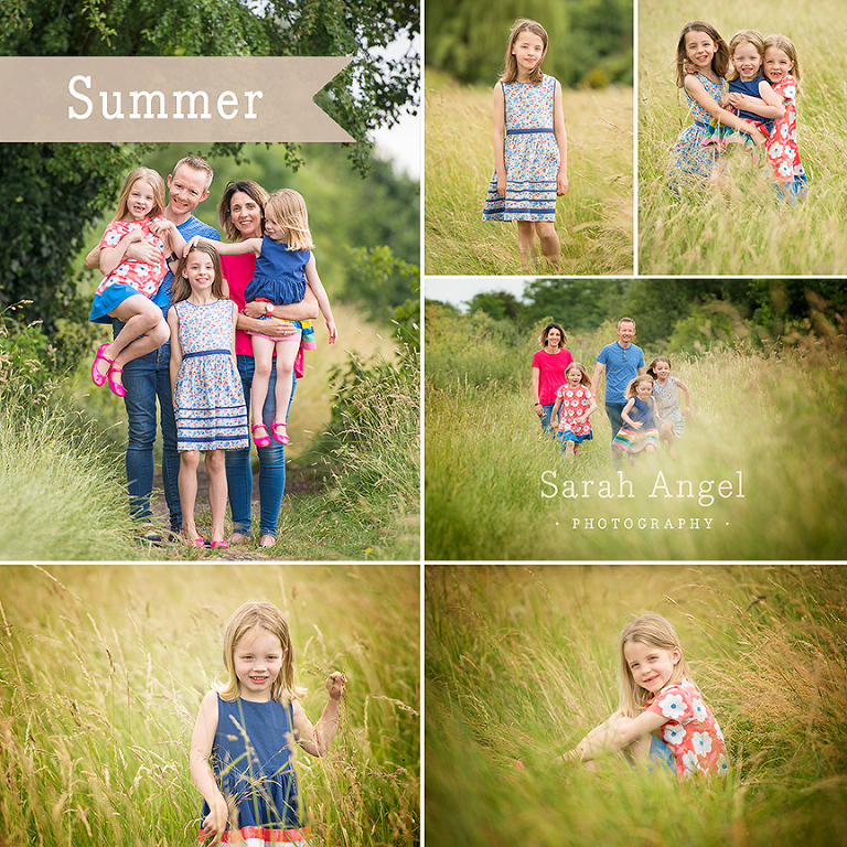 Summer Family Photography Session in Farnham Meadow, West Surrey