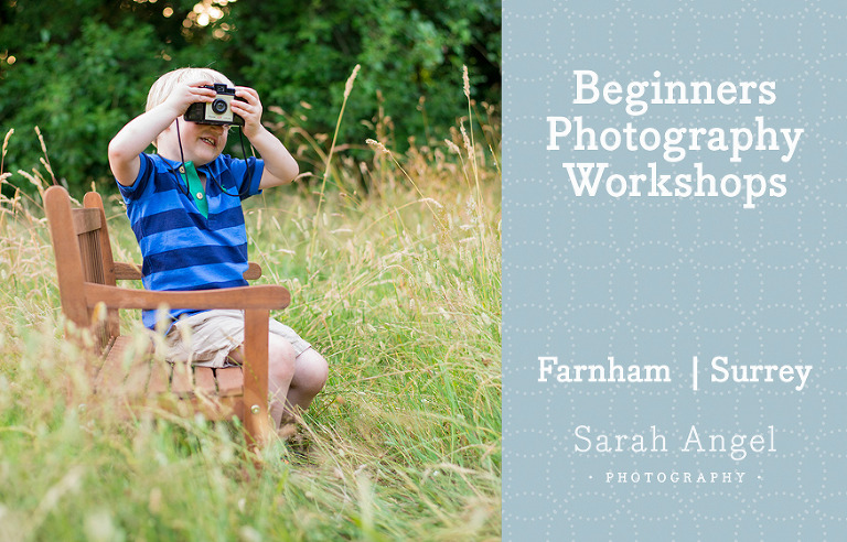 Boy holding a camera for Beginners Photography Workshops in Farnham Surrey