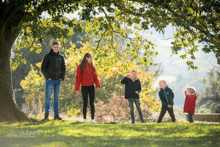 Family photographer in Alton, Hampshire together over the half term holiday last Autumn